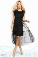 Платье черное вечернее с накидкой-M