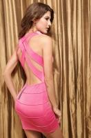 Платье розовое Клубное-44-46