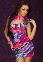 Платье Разноцветные перья-42-46