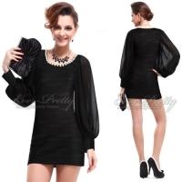 Платье-мини  с длинным рукавом-M/L